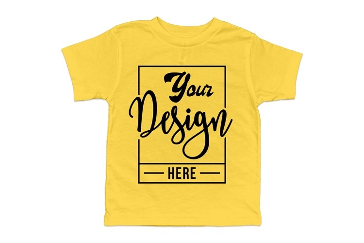 Bella Canvas 3001T, Yellow 3001T Mockup, T-shirt mockup example
