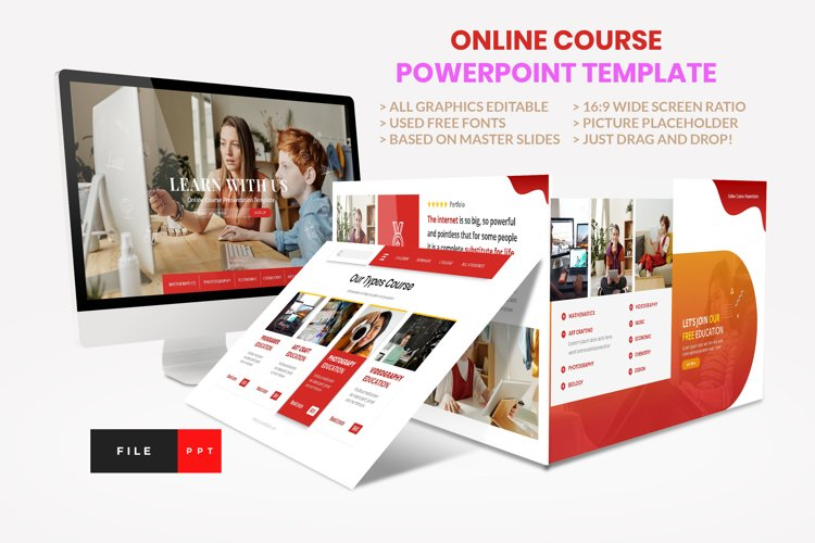 Online Course - Education PowerPoint Template example image 1
