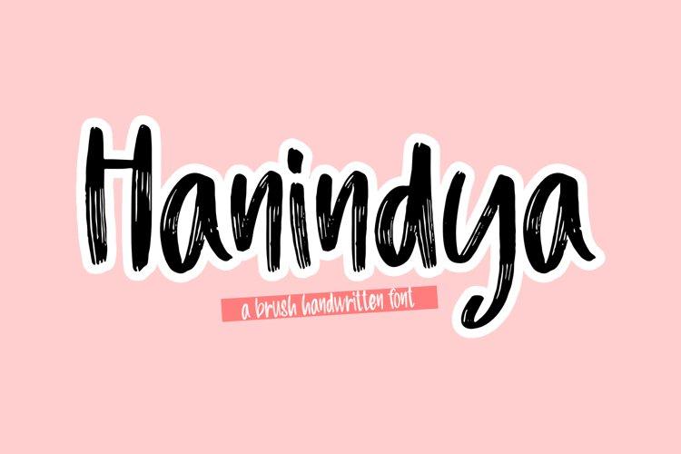 Hanindya - a Brush Handwritten Font example image 1
