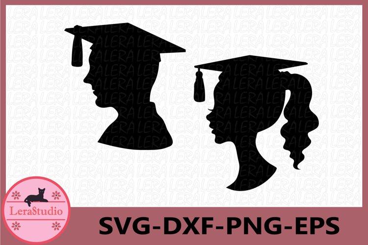 Graduation SVG, Girl and Boy Graduation Cap SVG, Graduation