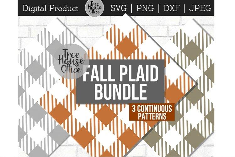 Fall Plaid Bundle, Buffalo Plaid, Flannel SVG DXF PNG JPEG example image 1