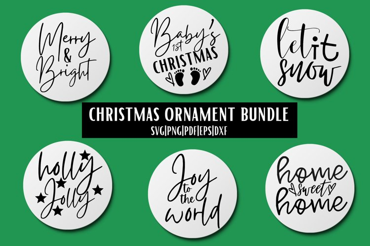 Christmas Ornament SVG Bundle - 6 example image 1