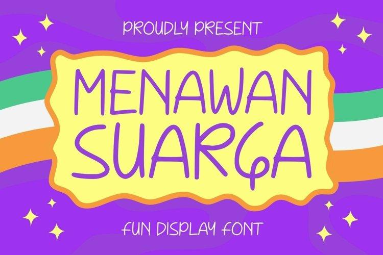 Web Font Menawan Suarga Font example image 1