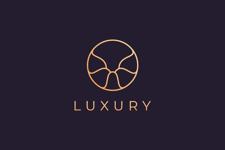 Luxury circle logo template example image 1