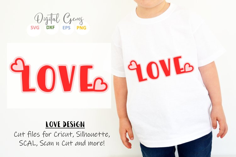 Love SVG / EPS / DXF / PNG Files example image 1