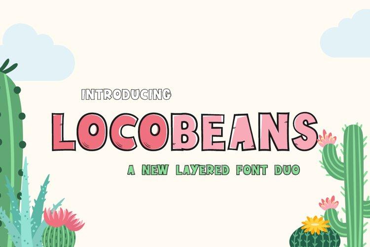 Locobeans Font Duo example image 1