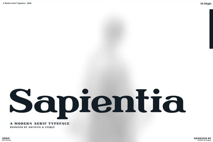 Sapientia - Serif Font Family - OTF, TTF example image 1