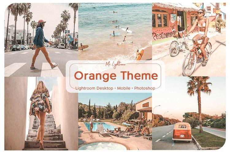 Orange Theme Lightroom Desktop and Mobile Presets example image 1