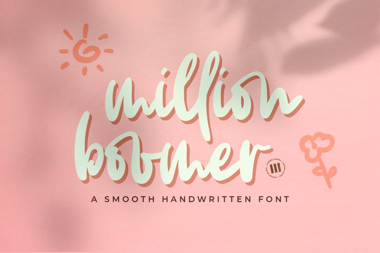 Million Boomer- A Smooth Handwritten Font example image 1