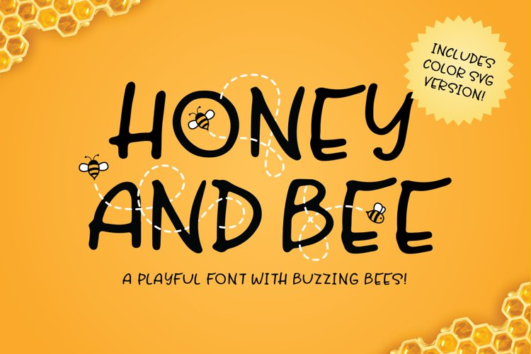 Honey and Bee Font example image 1