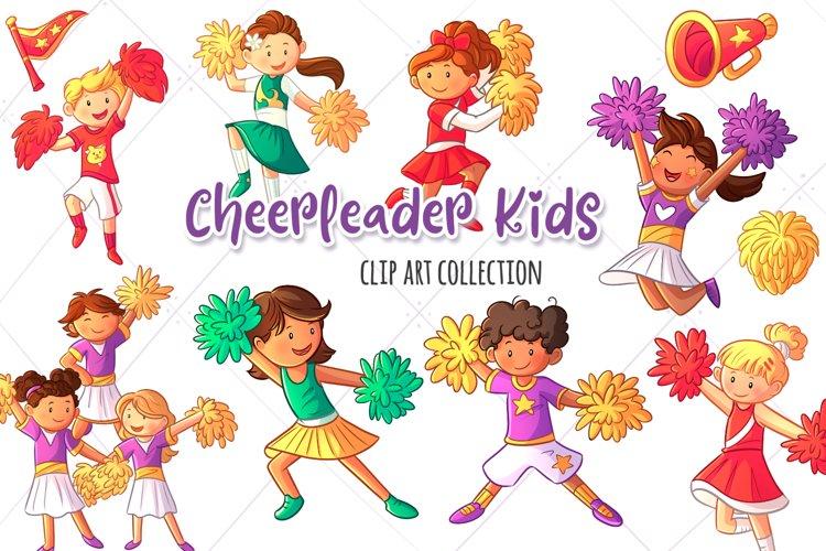 Cheerleader Kids Clip Art Collection example image 1