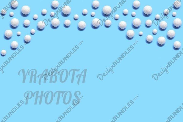 Christmas pattern with white snowballs example image 1