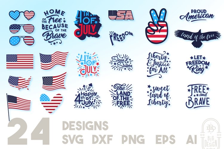 4th of July SVG Bundle example image 1
