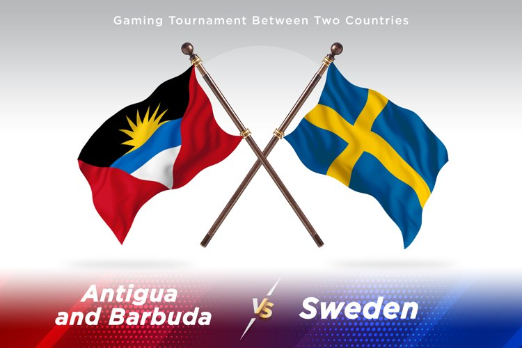 Antigua vs Sweden Two Flags example image 1