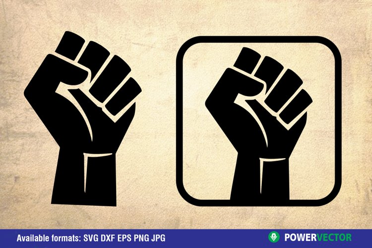 Fist for Power|SVG, Dxf, Eps Png Silhouette Vector Clipart example image 1