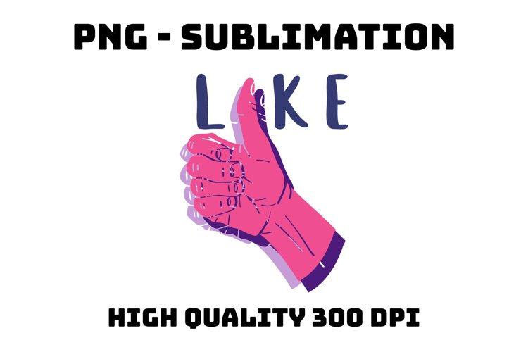 Thumbs up like symbol PNG sublimation clip art