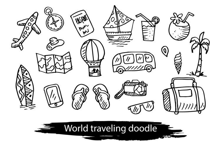 World traveling doodle