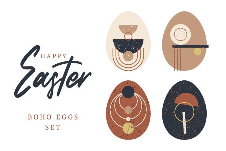 Easter Boho Eggs Set