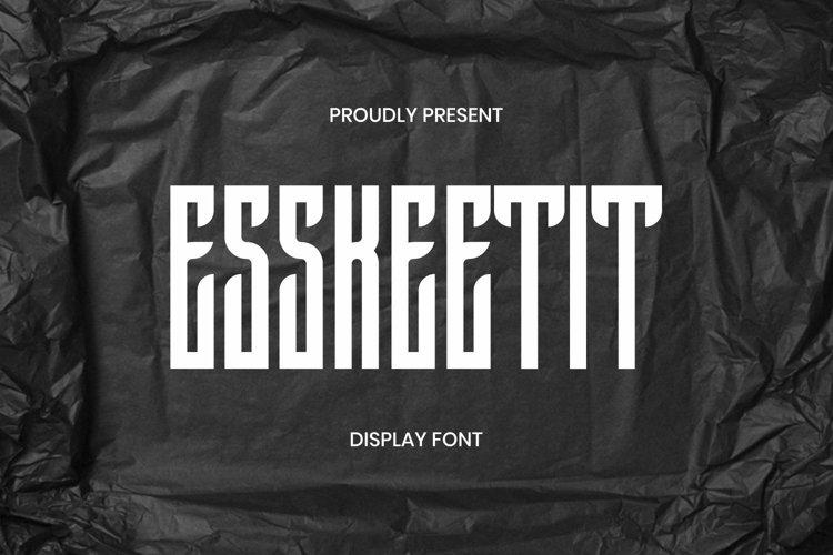 Web Font Esskeetit Font example image 1