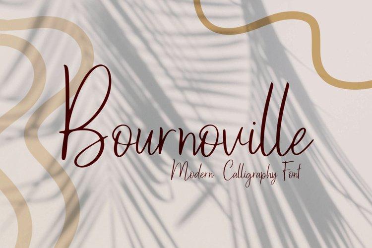 Bournoville Script example image 1