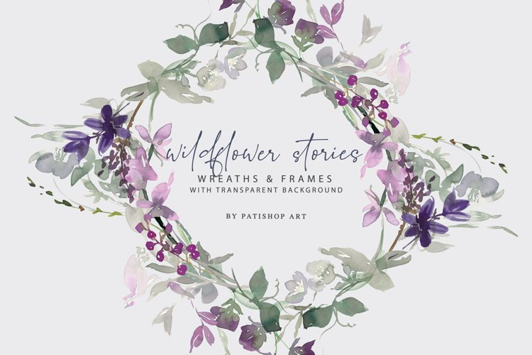 Watercolor Wildflower Clipart Set