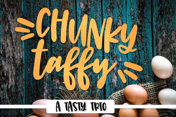 Chunky Taffy - A Script Print & Dingbat Hand Lettered Trio! example image 1