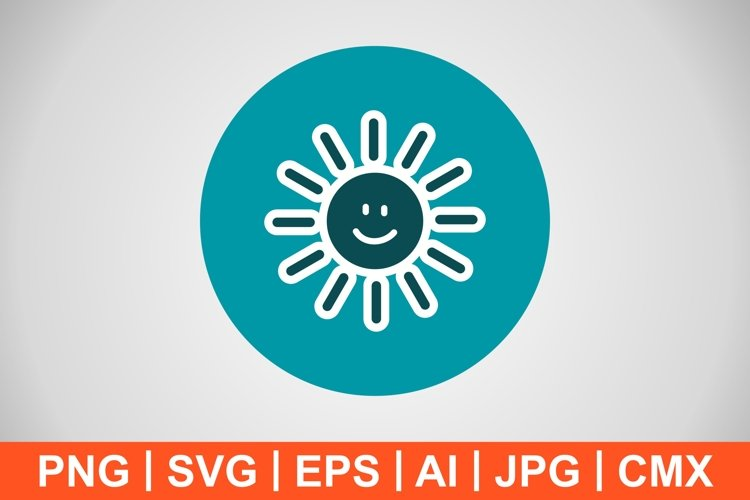 Vector Sun smiling Icon example image 1