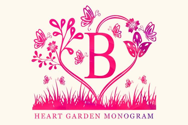 Heart Garden Monogram example image 1