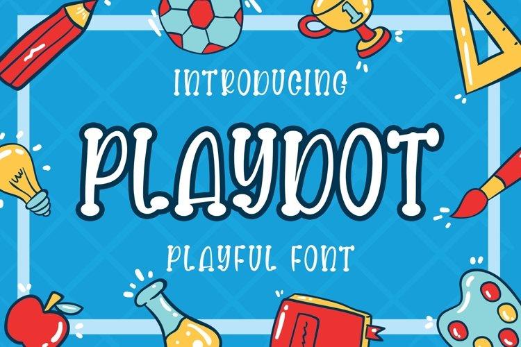 Playdot Playful Font example image 1