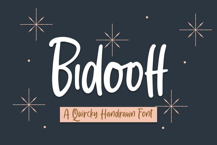 Bidooff - Quircky Handrawn Font example image 1