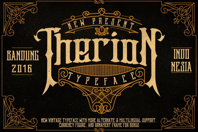 Web Font Therion Typeface Ornament Bonus example image 1