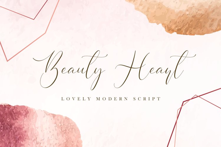 Beauty Heart - Lovely Calligraphy Font example image 1