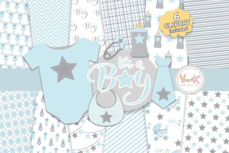 Baby Clip Art, Baby Boy Clipart, Baby Boyl Baby Shower DIY, Its a Boy, Blue and Gray Baby Shower, Baby Shower Clipart