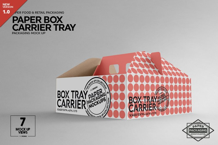Box Carrier Tray Packaging Mockup