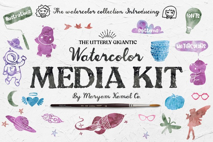 Utterly Gigantic Watercolor Media Kit example image 1