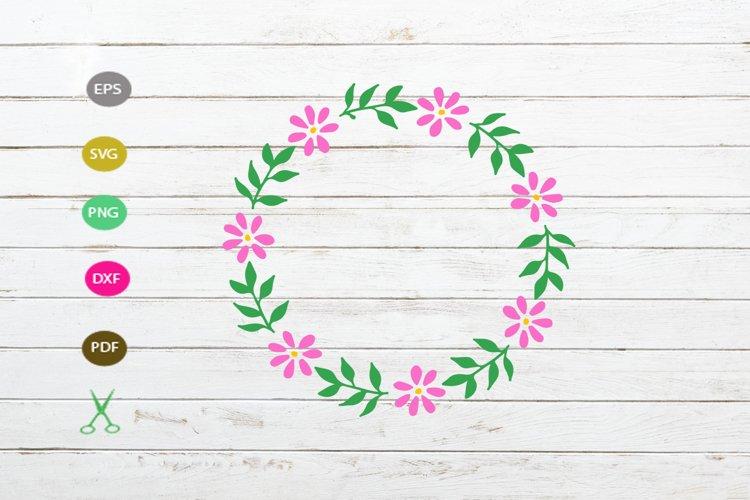 flower floral frame svg,flower wreath