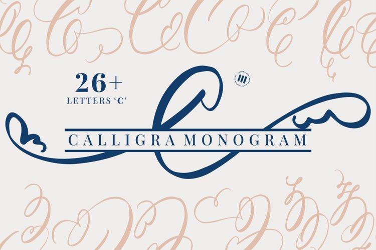 Calligra Monogram Font example image 1