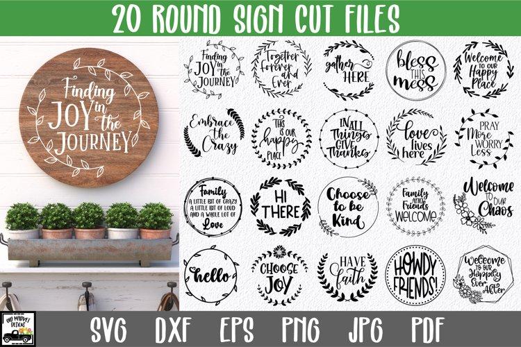 Round Sign SVG Files - Round Sign Bundle Volume 2