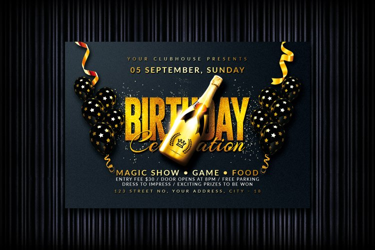 Birthday Flyer example image 1