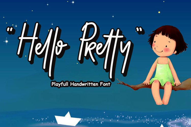 Hello Pretty Playful Font example image 1