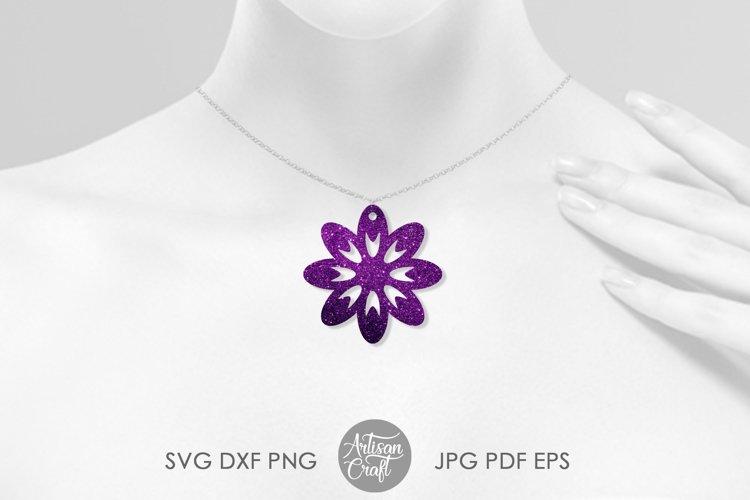 Earring SVG, Flower earrings SVG, leather earring patterns example 2