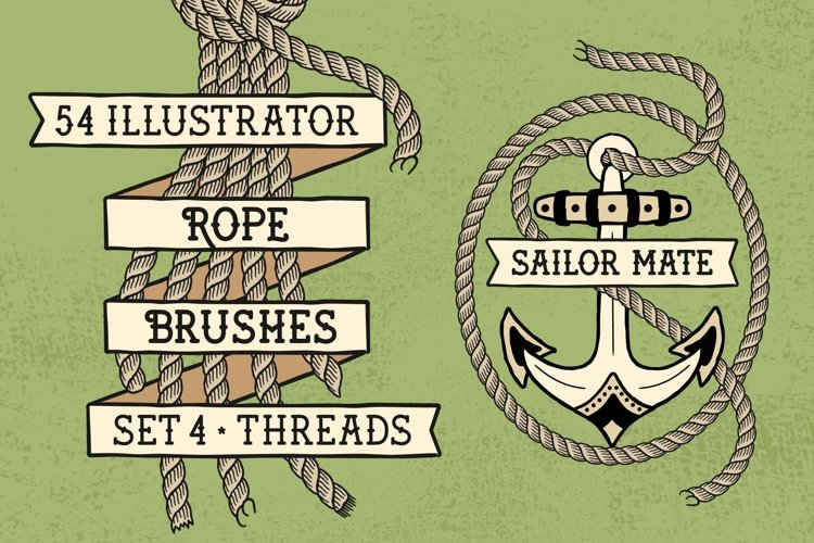 Sailor Mate's Rope Brushes IV - Threads example image 1