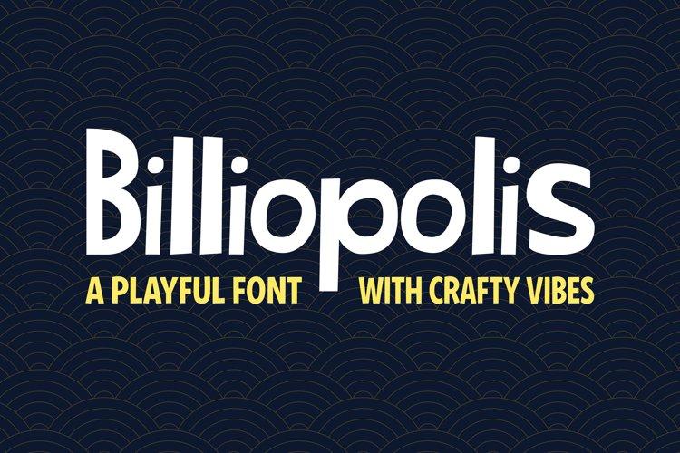 Billiopolis - Cute Crafty Font example image 1