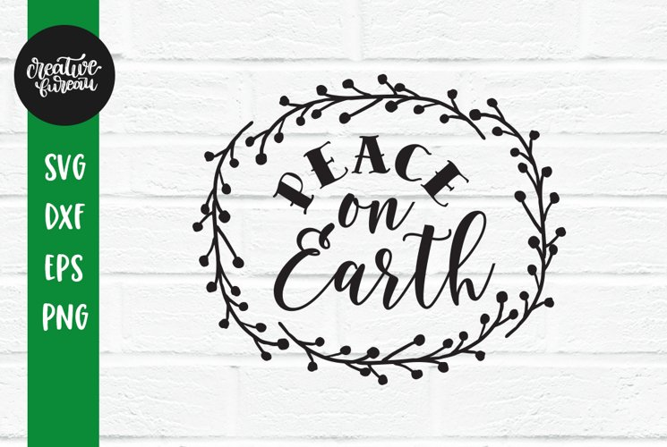 Peace On Earth SVG, Christmas SVG, Santa Claus SVG