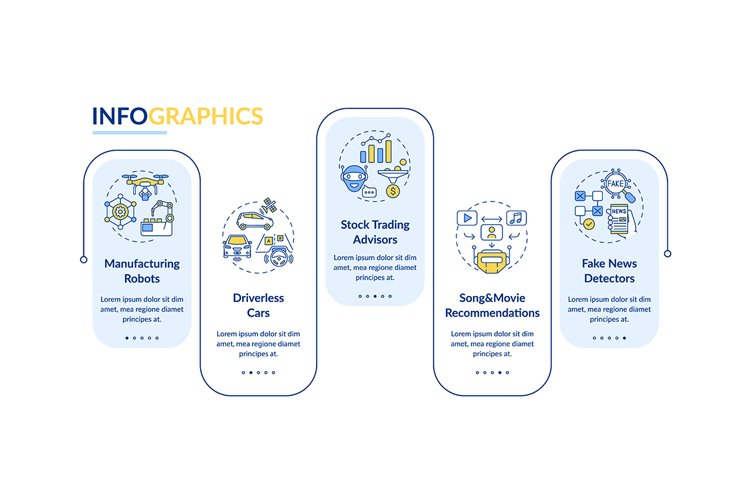 AI application 2 vector infographic template example image 1