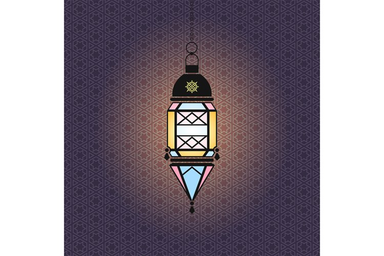 Vector Ramadan illustration with hanging lantern example image 1