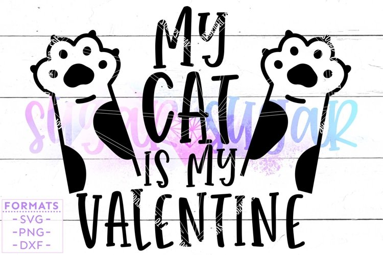 My Cat is My Valentine svg