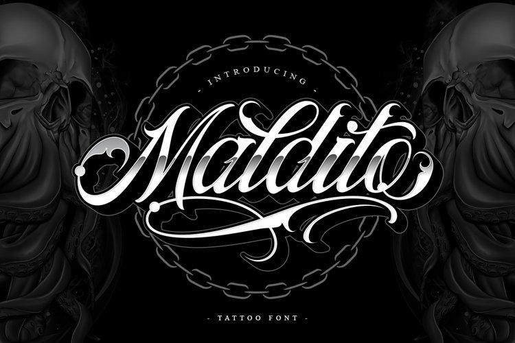 Maldito Font | Tattoo Style example image 1