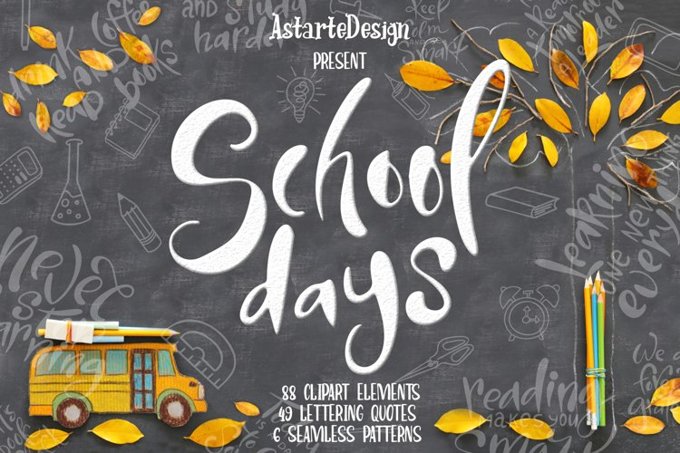 School days-clipartlettering example image 1