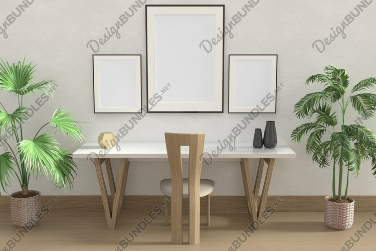 Frames On A Wall Mockup